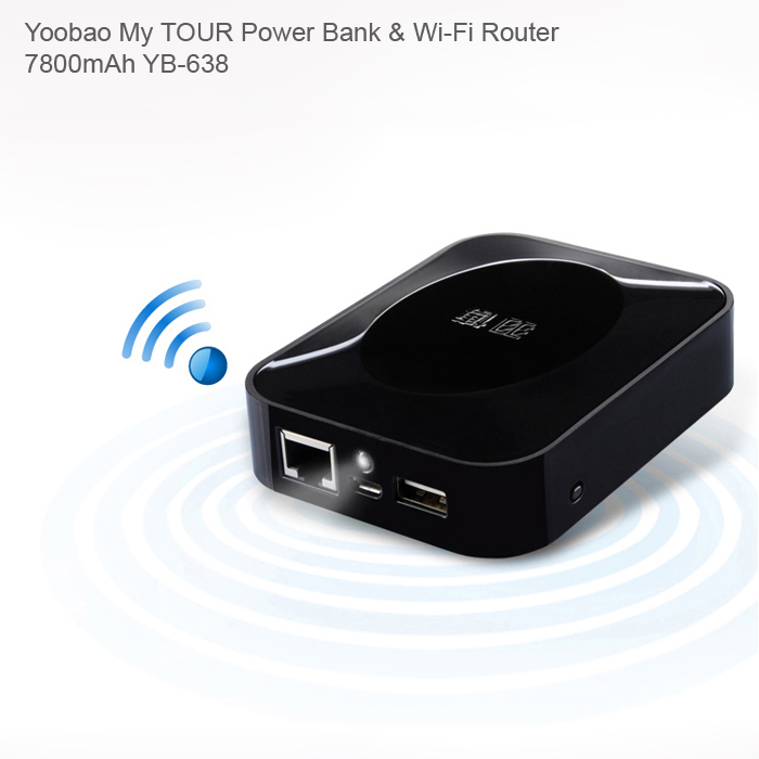 YOOBAO MY TOUR POWER BANK & WI-FI ROUTER YB-638 (7800MAH)