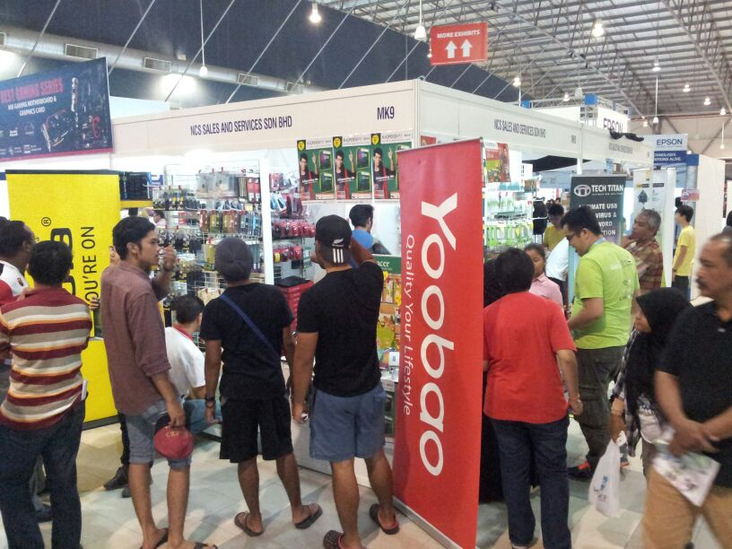 Jabra Yoobao Apacer Booth at PC Fair MITC Dec2013
