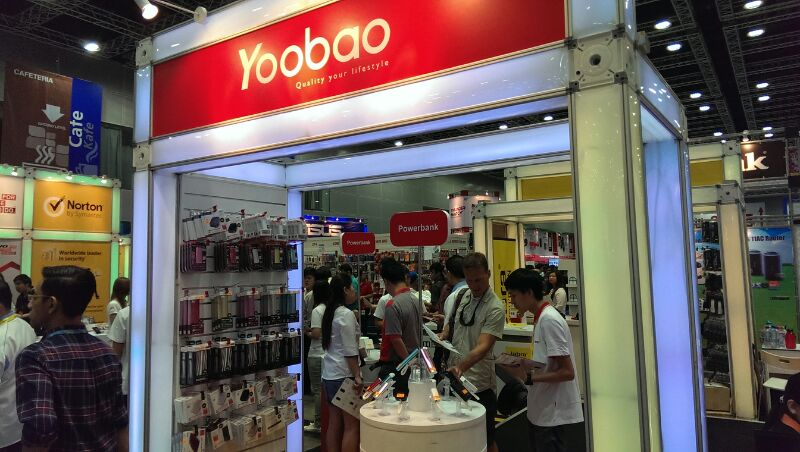 Yoobao Power Bank Booth at KLCC PC Fair December 2013